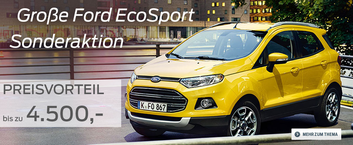 Sonderaktion Ford EcoSport #psunion